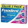 Fixodent Complete Denture Adhesive Cream Original - 2.4oz/3pk - image 3 of 4