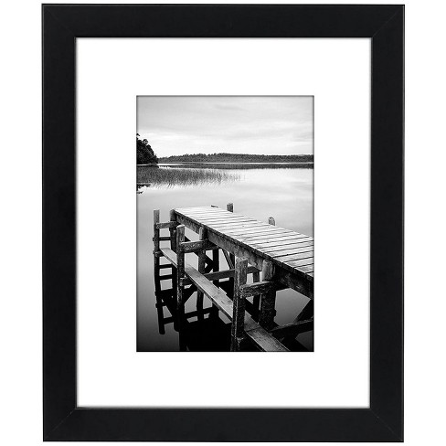 """Americanflat Picture Frames in Black MDF / Shatter Resistant Glass Horizontal and Vertical Formats for Wall and Tabletop - 8"""" x 10"""" - image 1 of 4"""