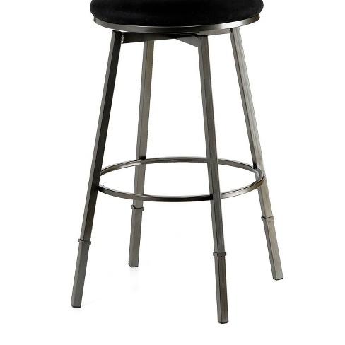 Sanders Backless Adjustable Counter Stool Metal/Black - Hillsdale Furniture