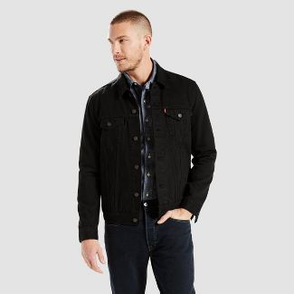 Levi's® Men's Long Sleeve Trucker Jacket - Black 2XL