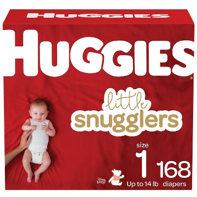 Huggies Little Snugglers Diapers Huge Pack - Size 1 (168ct)