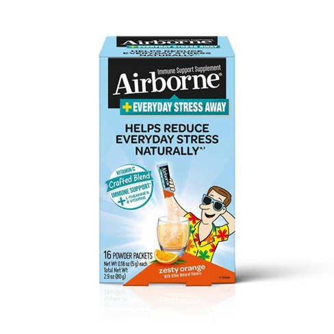 Airborne Stress Away Powder Packets - 16ct - image 1 of 4