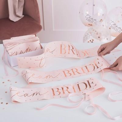 6pk 'Team Bride'  Sash Pack