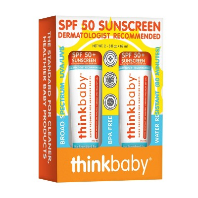 Thinkbaby Mineral Baby Sunscreen 3oz 2pk SPF 50