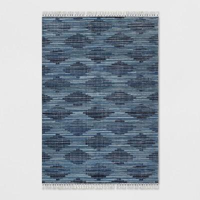 7' x 10' Diamond Tassel Outdoor Rug Blue - Opalhouse™