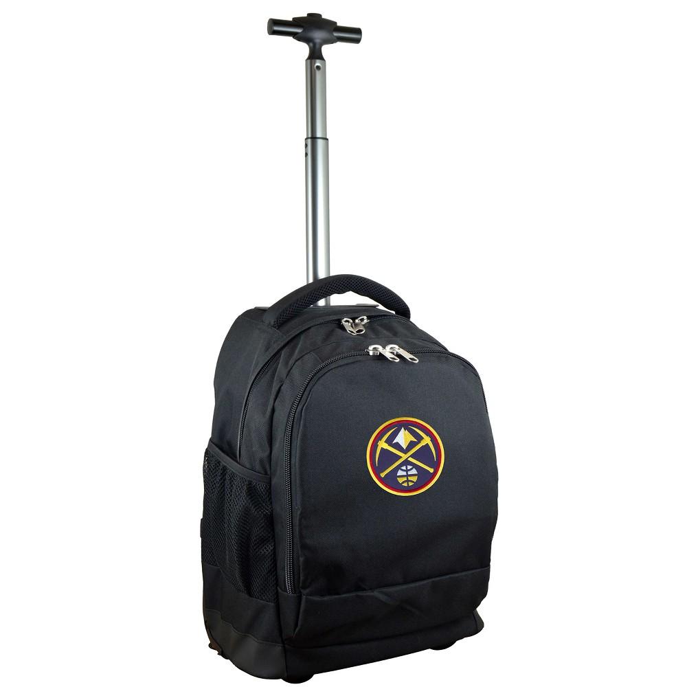 NBA Denver Nuggets Mojo Premium Wheeled Backpack - Black