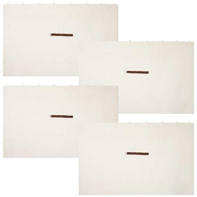 Sunnydaze Gazebo Sidewall Set for 10-Foot x 10-Foot Soft Top Gazebo (4 Sidewalls)