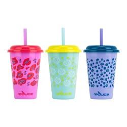 Reduce 12oz 3pk Plastic Go-Go Tumblers