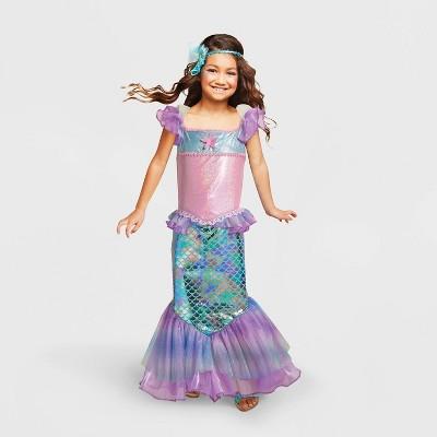 Kids' Mermaid Halloween Costume Turquoise - Hyde & EEK! Boutique™