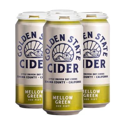 Golden State Mellow Green Hard Cider - 4pk/16 fl oz Cans
