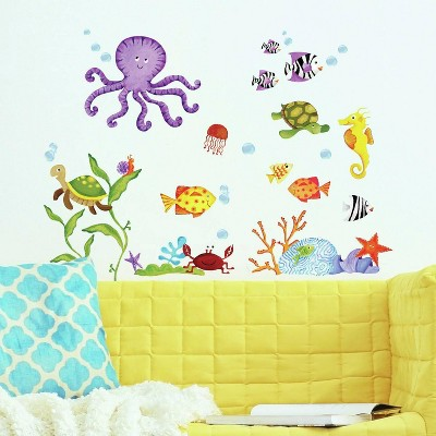 RoomMates Adventures Under The Sea Peel & Stick Wall Decal