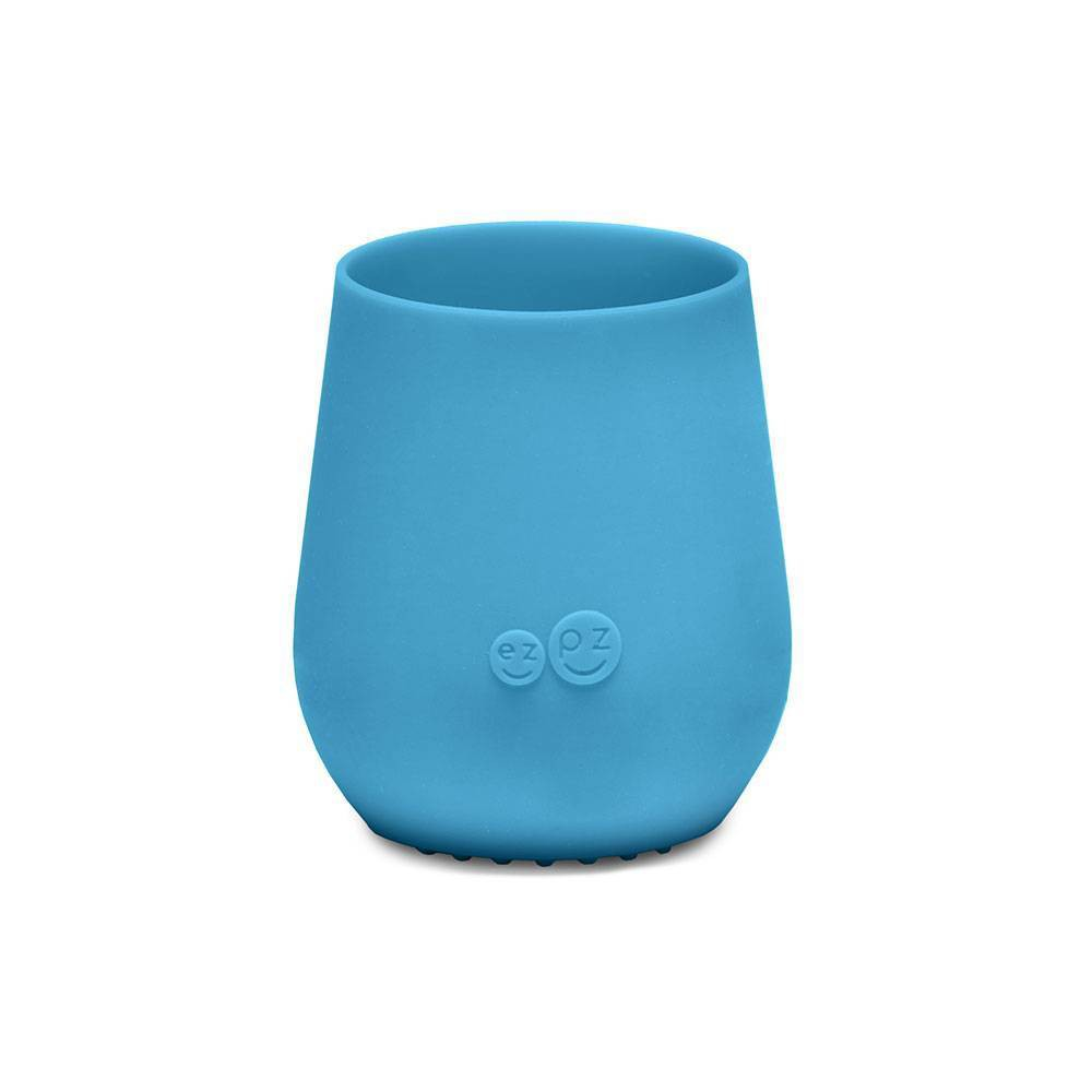 Image of ezpz Tiny Cup - Blue, drinkware