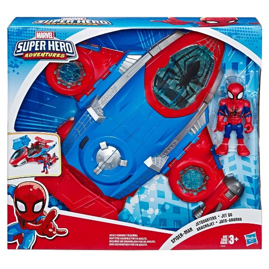 Playskool Heroes Marvel Super Hero Adventures Spider-Man Jetquarters image number null