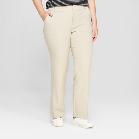 387f5d125d6e3 Women s Plus Size Trouser Pants With Comfort Waistband - Ava   Viv ...