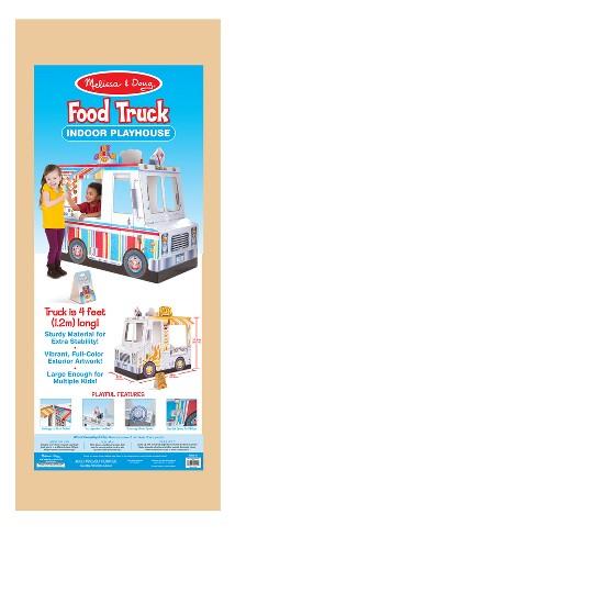 Melissa Doug Food Truck Indoor Corrugate Playhouse Over 4 Long