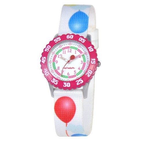 Red Balloon Kids Watch - White - image 1 of 1