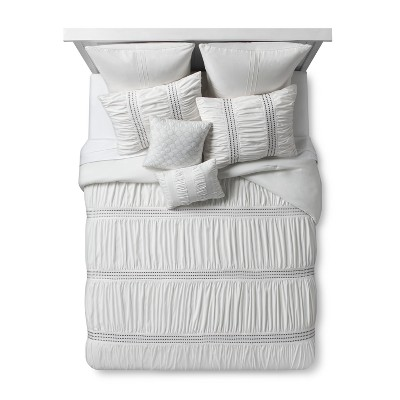 Ivory Embroidered Odette Comforter Set (Queen)8pc