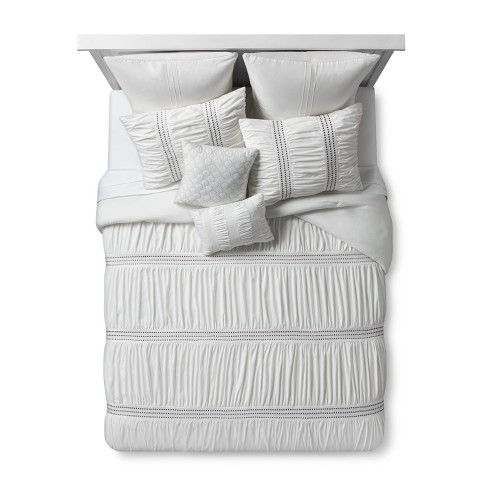 Ivory Texture Embroidered Odette Comforter Set 8pc - image 1 of 3