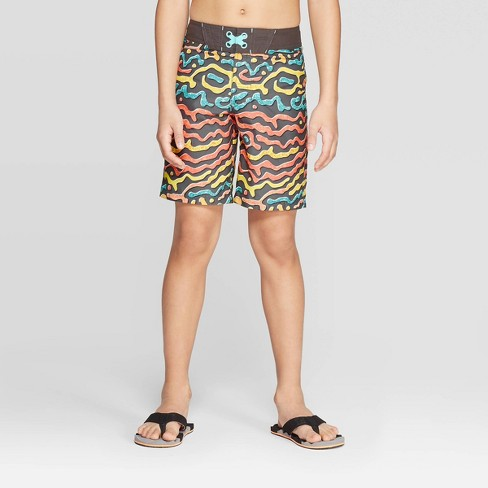 Boys' Alien Art Swim Trunks - art class™ Gray - image 1 of 3