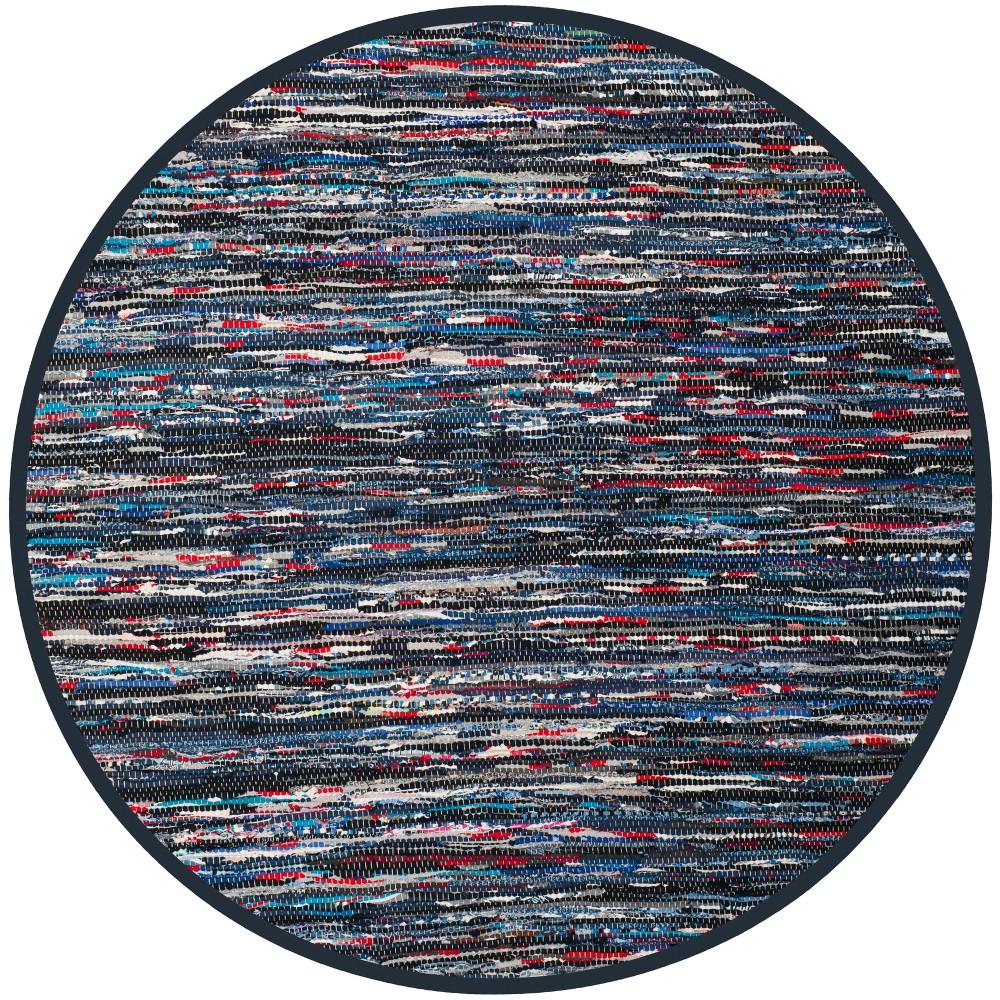 6 Spacedye Design Woven Round Area Rug Blue - Safavieh Cheap