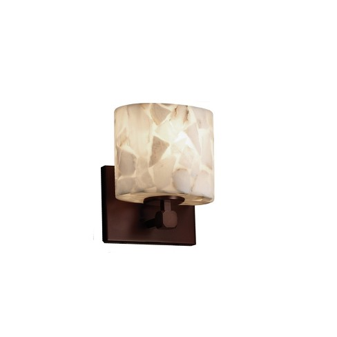 "Justice Design Group ALR-8427-30 Alabaster Rocks 6.5"" Tetra 1 Light ADA Compliant Wall Sconce - image 1 of 1"