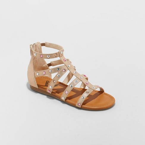Girls' Fritzi Embellished Gladiator Sandals - art class™ - image 1 of 4