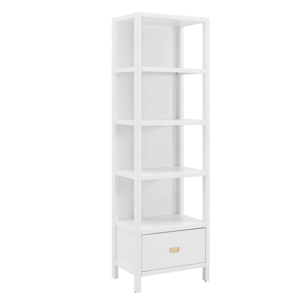 72.5 Peggy Bookcase White - Linon 72.5 Peggy Bookcase White - Linon Pattern: Solid.