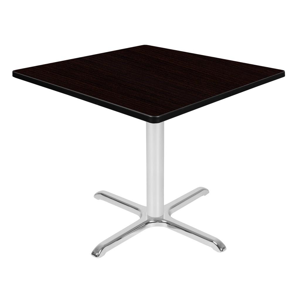 36 Via Square X - Base Table Espresso/Chrome (Brown/Grey) - Regency