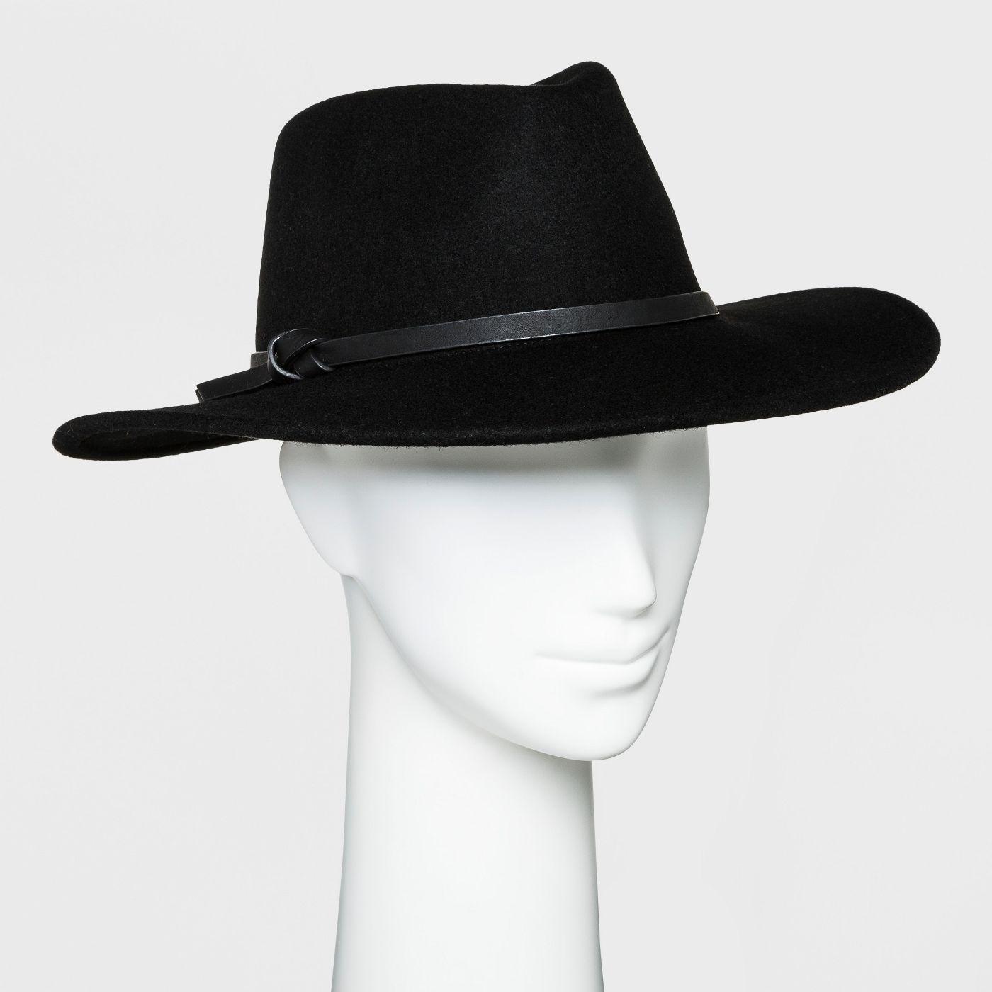 Women's Panama Hat - Universal Thread™ Black - image 1 of 1