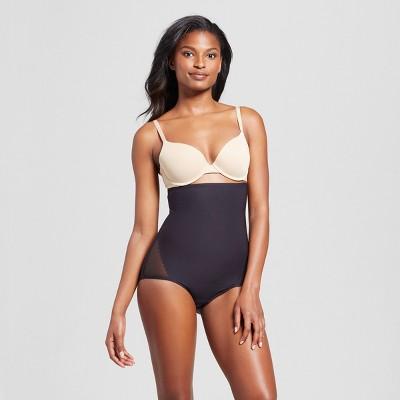 SlimShaper by Miracle Brands® Women's Sheer High Waist Brief - Black L