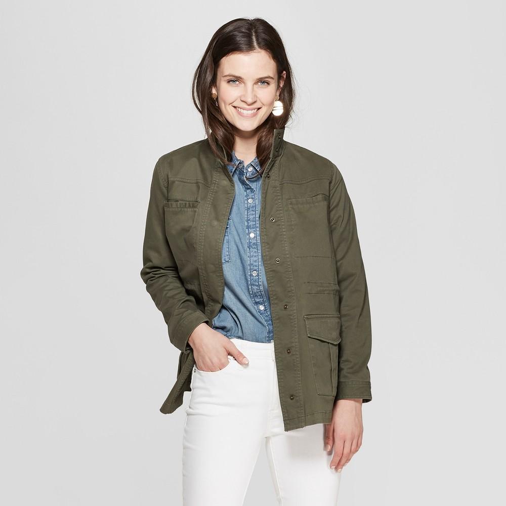 Women's Utility Jacket - Universal Thread Olive M, Green