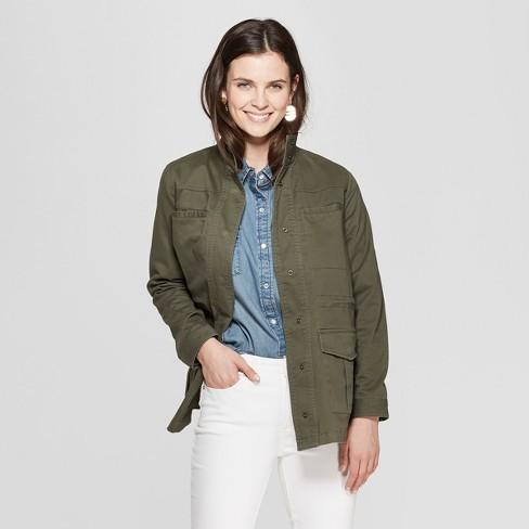 Women s Utility Jacket - Universal Thread™ Olive   Target 363bd1dd9