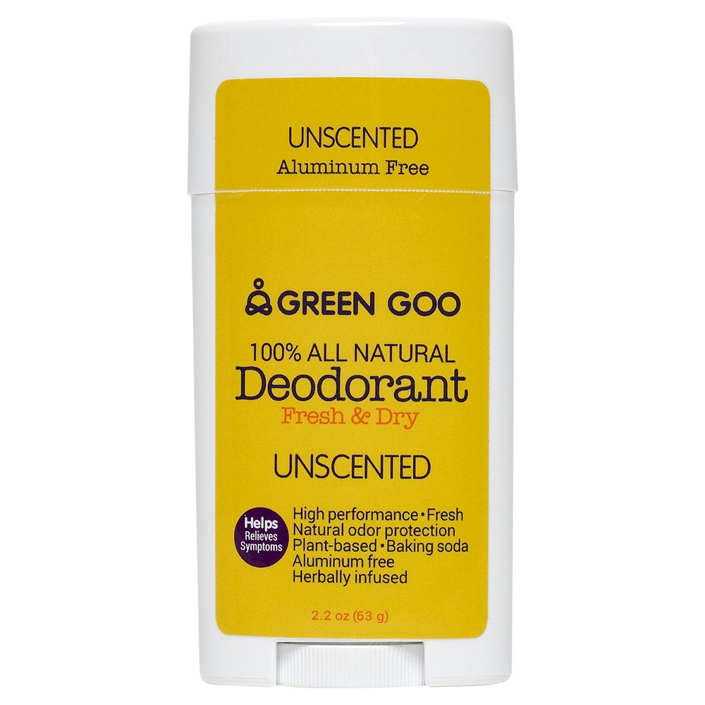 Green Goo Deodorant Oval Stick Unscented Natural Deodorant - 2.2, Clear