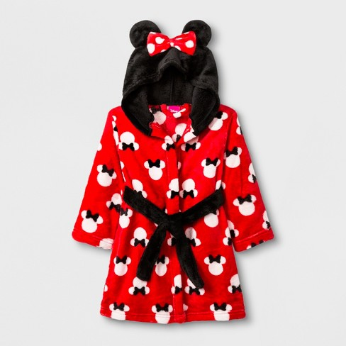 bd988eec97d0 Toddler Girls  Minnie Mouse Robe - Red   Target