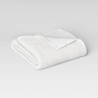 "60""x50"" Ribbed Plush Throw Blanket - Room Essentials™"