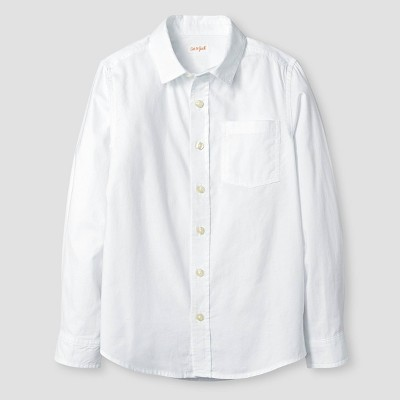 Boys' Long Sleeve Button-Down Oxford Shirt - Cat & Jack™ White