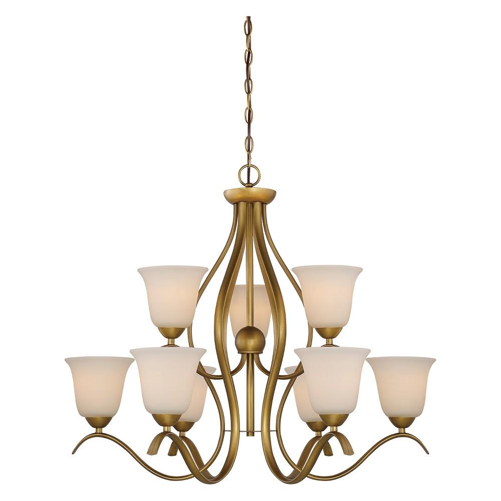 Ceiling Lights Chandelier Natural Brass - Aurora Lighting