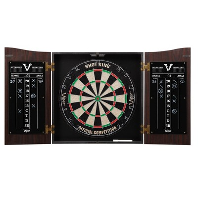 Viper Vault Dartboard Cabinet with Shot King Sisal Dartboard