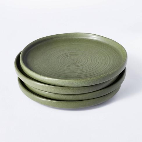 "10"" 4pk Stoneware Dinner Plates Green - Threshold™ designed with Studio McGee - image 1 of 4"
