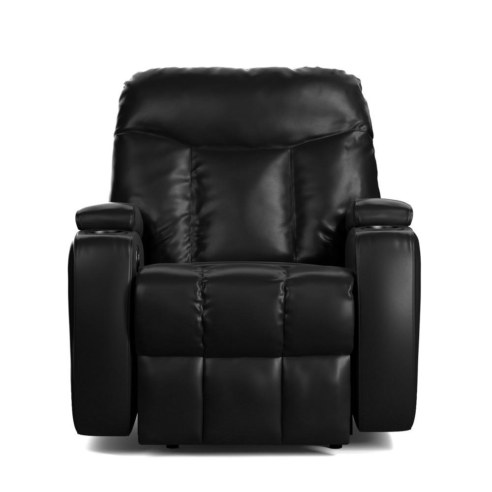 Wall Hugger Storage Recliner Power Chair - Black- Prolounger, Black
