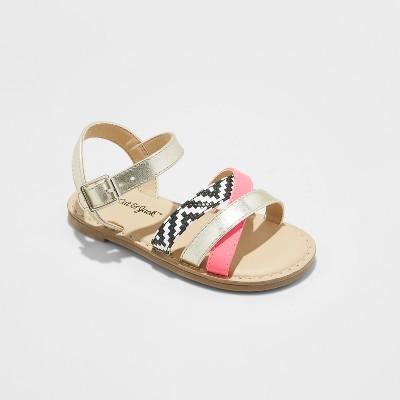 Toddler Girls' Kelandria Slide Sandals - Cat & Jack™ Gold 5