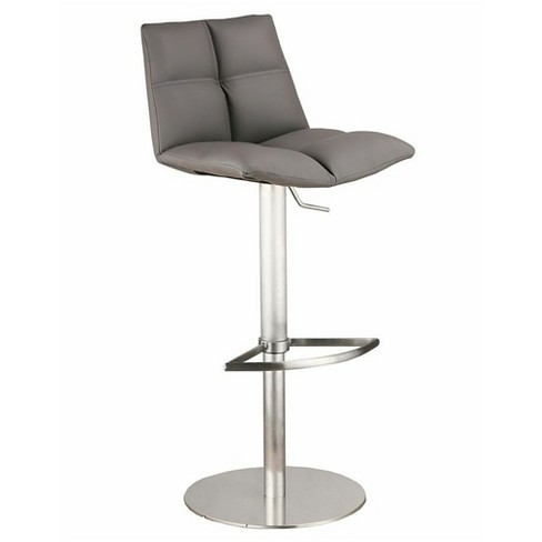 Armen Living Roma Adjustable Barstool - Stainless/Gray - image 1 of 1