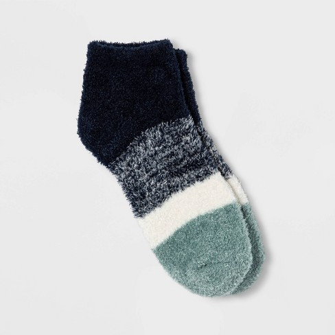 Women's Colorblock Striped Cozy Low Cut Socks - A New Day™ 4-10 - image 1 of 2