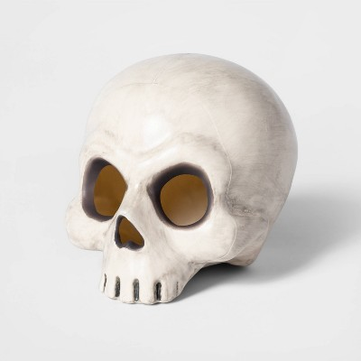 "6"" Color Changing Light Up Skull Decorative Halloween Prop - Hyde & EEK! Boutique™"