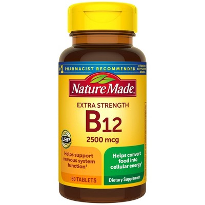Nature Made Extra Strength Vitamin B12 2500 mcg Tablets - 60ct