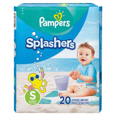 Pampers Splashers Disposable Swim Pants - Size S (20ct)