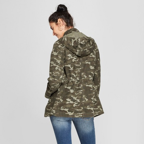 27d0a3adc2762 Women's Camo Print Utility Anorak Jacket - Universal Thread™ Green M ...