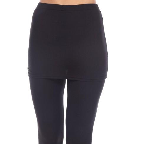 Women's Skirted Leggings - White Mark - image 1 of 3