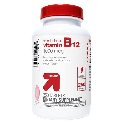 Vitamin B12 Dietary Supplement Timed Release Tablets - 250ct - Up&Up™