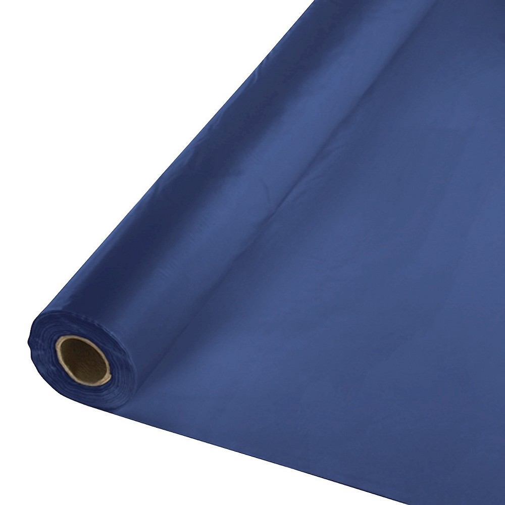 Navy Blue Disposable Tablecloth